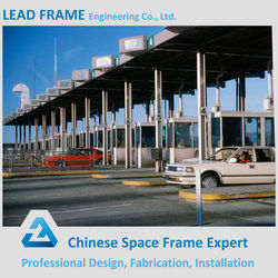 Free Forms Aesthetic Building Toll Station Metal Frame Outdoor Canopy