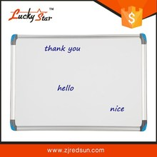 2015 hot sales ceramic steel pvc corner whiteboard with magnetic whiteboard marker pen