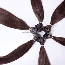 Factory price Brazilian 100% human remy flat-tip hair