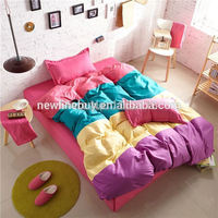 Soft 4pcs bedding set twin, full, queen/king size bed linen high quality bedclothes duvet cover set, free shipping!