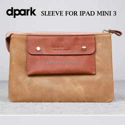 Premium genuine leather laptop tablet sleeve bag cases for iPad mini 3- Canis Minor