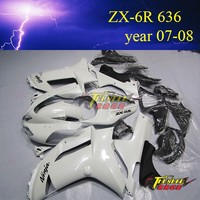 hot sale Aftermarket ABS plastic body cover Motorcycle fairingkits for kawasaki ninja ZX6R 636 2007 2008
