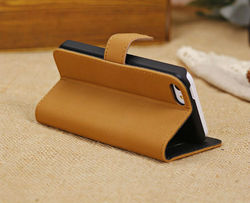 Fashion Retro Horizontal PU Leather Case Cover Holster for iPhone 5C