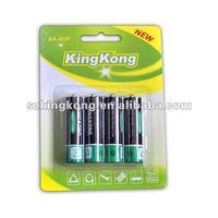 hot sale 1.5V R6 um3 AA carbon zinic battery for light