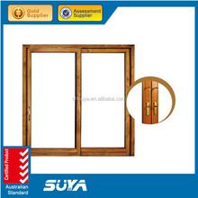 New Design Aluminium Wood Cladding Glass sliding window