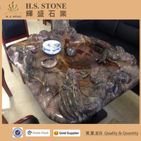 Popular Wall Papers Countertop Stone Tea Tray Black Marble