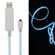 china products 2015 micro data usb cable with led light