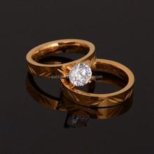 Fashion Fake Diamond Pair Wedding Ring