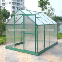New inventions aluminium frame style small hobby green house(HX65124G)