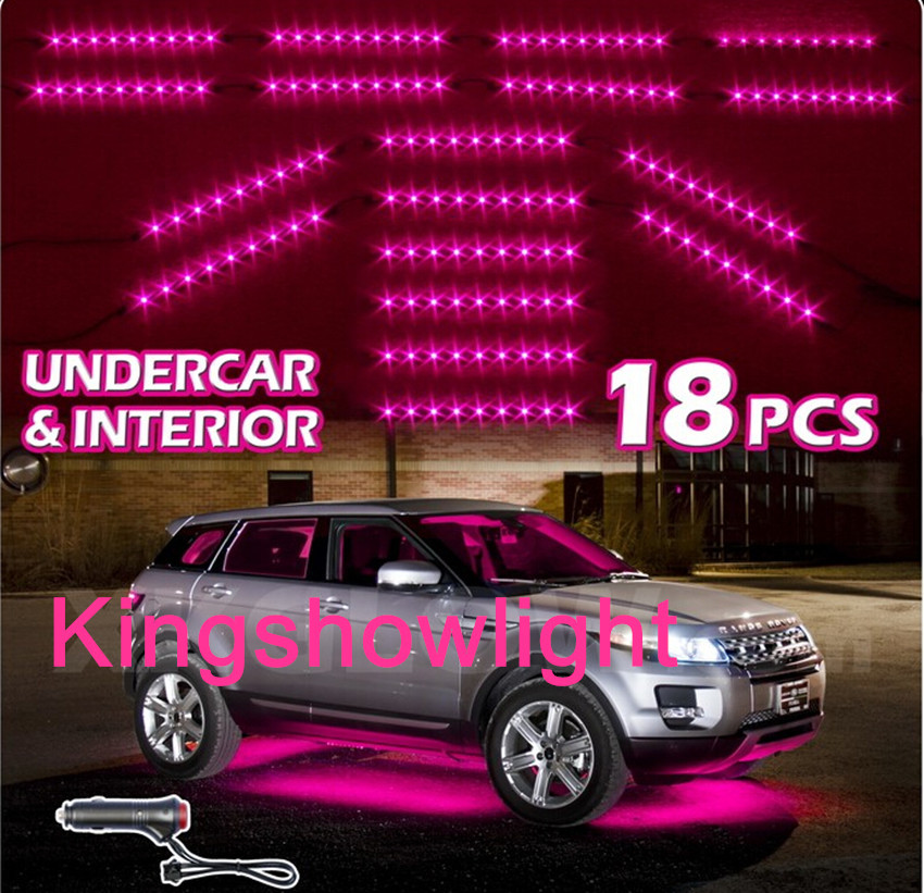 new led neon accent lighting kit for car truck underglow interior 3 mode pink buy led neon. Black Bedroom Furniture Sets. Home Design Ideas