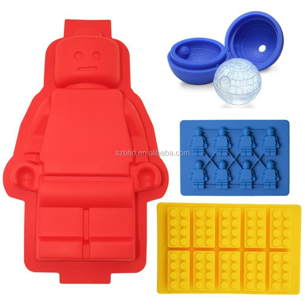 Silicone Building Bricks Amp Minifigure Ice Cube Tray And