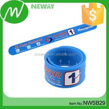 Promotion customized silicone slap bracelet slap band slap bracelet