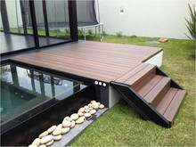 recycled durable antislip outdoor wood plastic composite decking