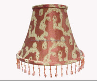 fabric lamp shade with beads