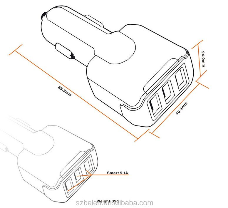 QC3.0 42W 3 USB charger-6