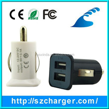 cheap price OEM micro dual usb car charger 2 port for mobile phone