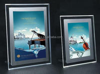 Factory wholesale clear acrylic frameless picture frame with screw