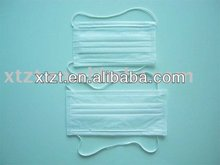 non polluting/non pollute two-ply styled disposable non-woven face mask with elastic on head for medical and surgical use