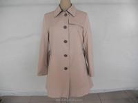 2015 new design women's Trench coat ,custom Korean women's Dust coat, Korean Classic coat Windbreaker