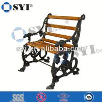 outdoor round wooden table and bench - SYI Group