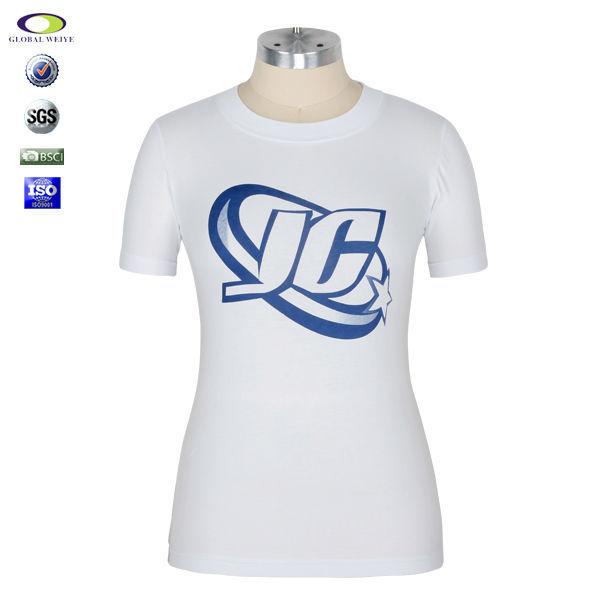 Custom Womens White Plain Top Tee Shirts View Custom Tee