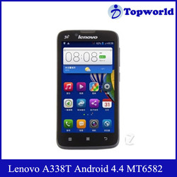 Hot Selling Lenovo Mobile Phone 4.5inch Android 4.4 MTK6582 Quad Core 1.3GHz RAM 512MB ROM 4GB Lenovo A338T Cheap Cell Phone