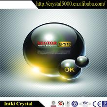 Antique swarovski crystal ball with customized logo
