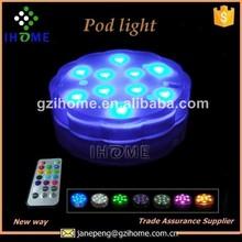 High quality Submersible or floating Portable LED Pod Lights(10 leds)