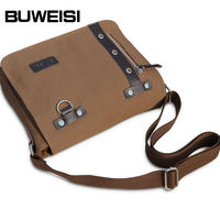 Hot sale school canvas messenger bags for teenagers
