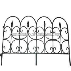 black decorative plastic garden fence/garden edging fence