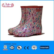 fashion cheap kids rubber rain boots