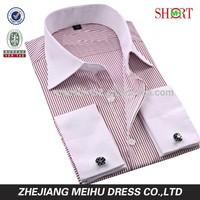 Latest design French cuff multi stripes Mens casual dress shirts