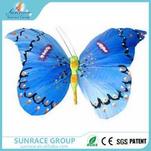 Brand new christmas ornaments in bulk hanging acrylic butterfly decoration lace fabric butterfly with great price