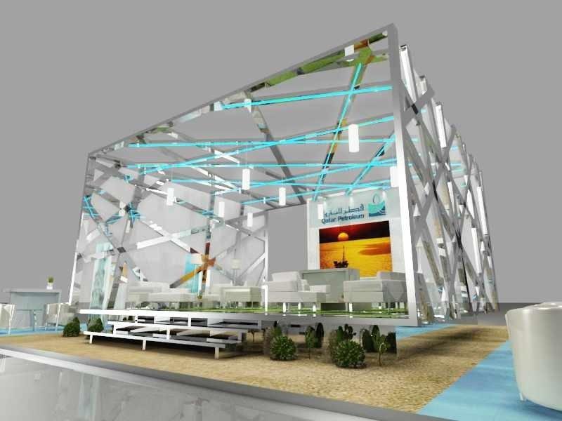 Qatar petroleum stand design service for Design de stand
