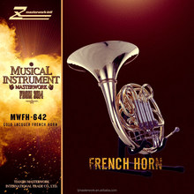famous brand wind instrument 4 key double french horn from china