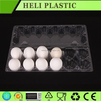 Clear transparent plastic egg tray