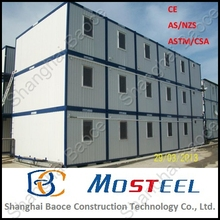 20ft standard export sandwich panel container office movable