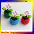最高のプロモーションギフト太陽おもちゃ太陽発電のダンスの花