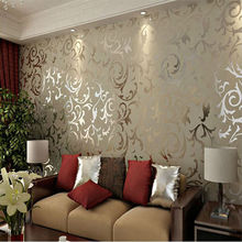 European Vintage Luxury Damask Wall paper PVC Embossed Textured Wallpaper Rolls Home Decoration