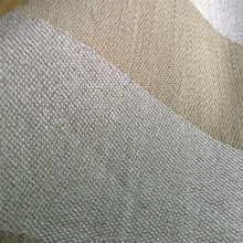 Tejido 230 gsm crema marrón stripe 49% silk 51% estera de cáñamo tela