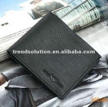 hot sale fashion genuine leather man travel wallet