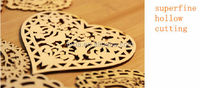 Decorative Heart Unfinished Wood Sign Laser Cut Out Shape