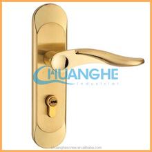black powder coated door handle