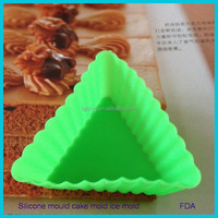 baking set Special Mini silicone cake cupcake moulds/molds Decoration Triangle muffin baking cups