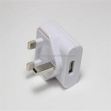 BS 500ma universal oem 3 pin high speed usb adaptor dc 5v