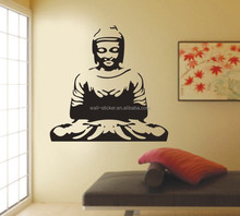 Wholesales figure of Buddha wall sticker for sitting room