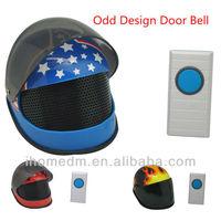 Novelty Design,Helmet Shape,Wireless Electronic Door Bell,