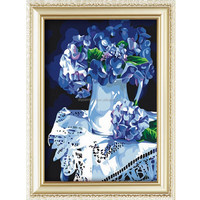Fashion home decoration flower design oil painting by number set