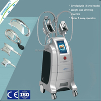 Hottest Criolipolisis Body Slimming Cryotherapy Beauty Equipment, 4 Cryo Handles Work Together (ETG50-4S)