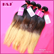 Fast shipping China supplier 5A virgin human ombre hair extension wholesale
